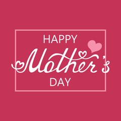Mother's Day typographical background.