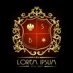 Royal Brand Logo,Crown logo,Lion Logo,Crest logo,Vector logo template