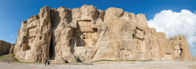 Naqsh-e Rustam, an ancient necropolis in Pars Province, Iran