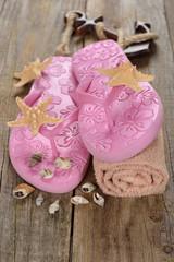 Pink beach sandals
