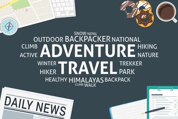 vector adventure travel concept,template