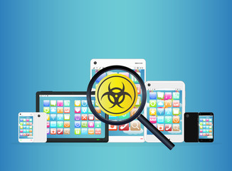 smartphone and tablet detected virus
