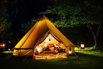 Foto op Plexiglas Kamperen キャンプのある風景