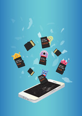 Smartphone Virus eating micro SD memory card
