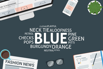 vector blue concept,template