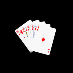 Royal Flush diamonds in poker