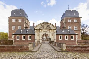 Foto auf Acrylglas Schloss Castle Ahaus, front entrance view