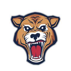 Cougar head mascot