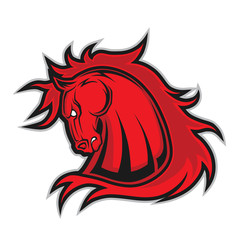 Horse or mustang head mascot