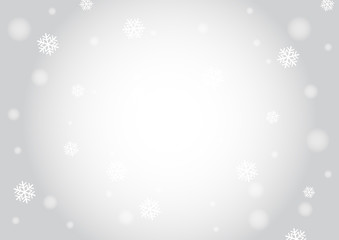 snow and light bokeh background