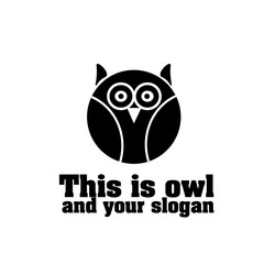 This is owl with slogan
