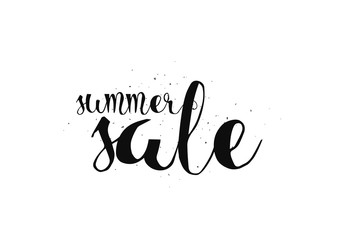 Summer sale hand drawn calligraphy for banner, poster or print