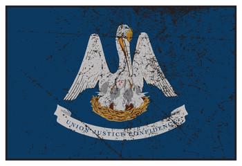 Louisiana State Flag Grunged