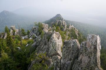 Malinovaya (Raspberry) Mount near Beloretsk, Bashkortostan, is one of the highest Ural Mountains in Russia. August 2013.