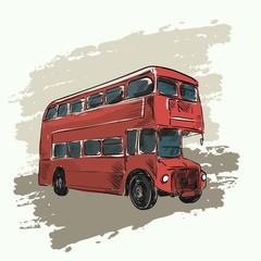 classic red double decker bus