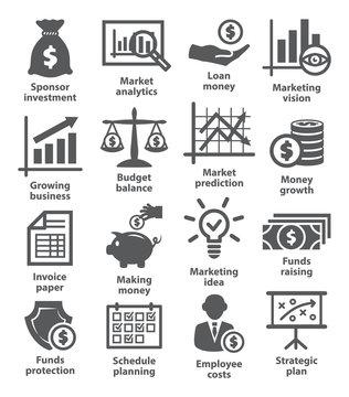 Business economic icons