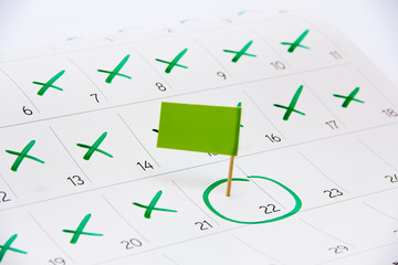 Calendar 2016 – Pin the event day or deadline with flag