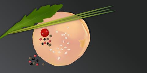 Tranche de foie gras - Vecteur