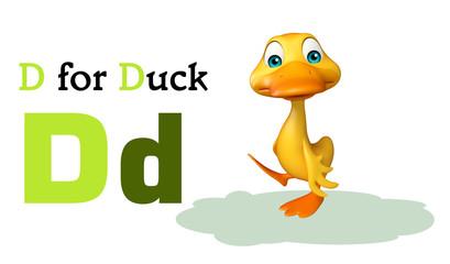 Duck farm animal with alphabate