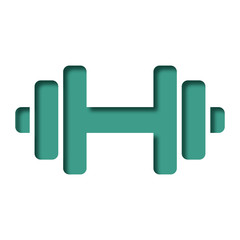 Logo haltères.