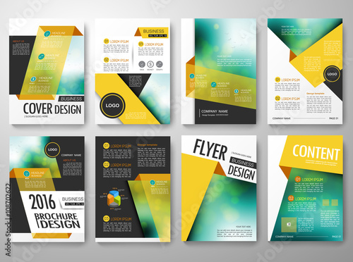 brochure flyer annual report design template vector leaflet cover