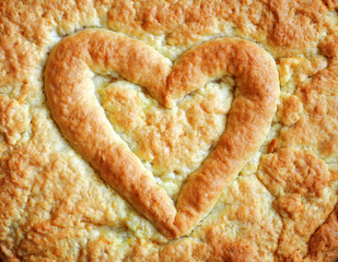 Heart on the pie for Valentine's Day, Anniversaries, and Birthday