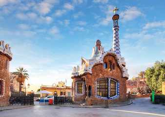 Foto op Canvas Barcelona Barcelona, Guell Park, Spain