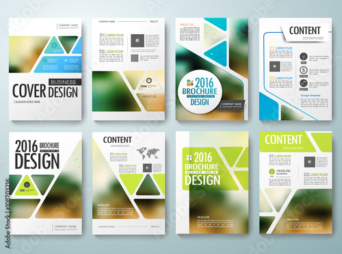 set of flyers design template vector brochures annual reports