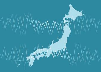 日本地図 経済 ビジネス イメージ