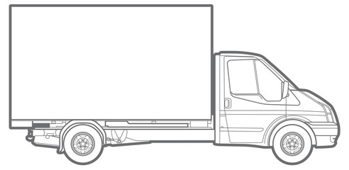 Vector outline truck