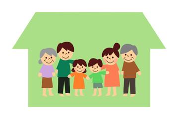 三世代家族と家