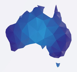 Polygonal Australia map