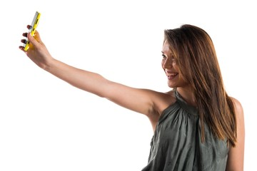 Young girl making a selfie