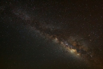 milky way galaxy on a night sky,long exposure photograph.with gr