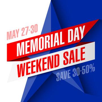 Memorial Day Weekend Sale banner