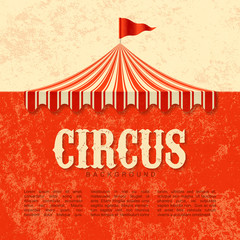 Circus vintage poster background