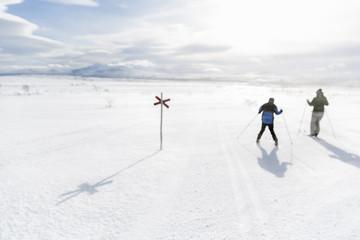 Two man skiing