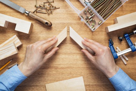 Woodworking workshop table top