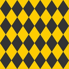 Photo sur Aluminium ZigZag Tile black and yellow vector pattern or wallpaper background
