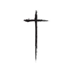 Christian cross grunge vector illustration
