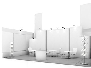 Blank trade show booth mock up