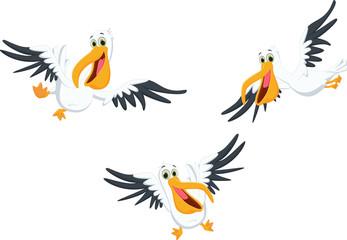 happy pelican cartoon