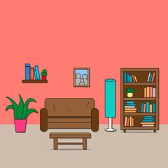 Design of room - sitting room.
