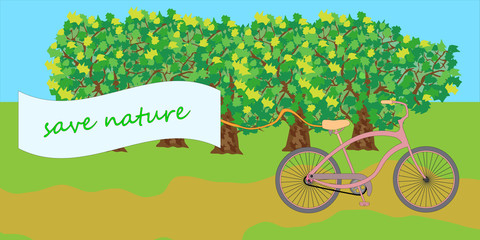 bike ride in nature