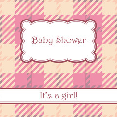 Background with plaid baby shower