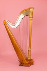 beautiful golden harp
