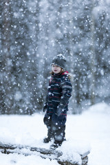 Boy at winter
