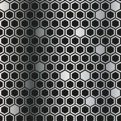 Metal background with black rhombus. Metal grill vector texture