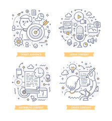 Content Marketing Doodle Illustrations