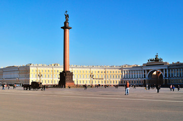 Palace Square in Saint-Petersburg, Russia